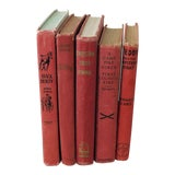 Image of Vintage Red Children's Book Collection - Set of 5 For Sale
