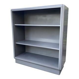 1930s Art Deco Steel Adjustable Bookcase For Sale