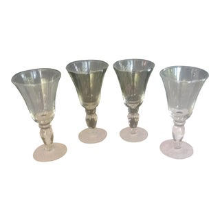 Georgian Style Trumpet Cocktail Glasses - Set of 4 For Sale