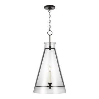 Chapman & Myers by Generation Lighting Keystone Large Pendant, Black For Sale