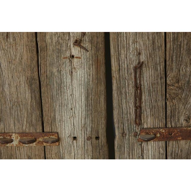 Pair of Antique Chinese Oak Gate Doors For Sale - Image 9 of 10