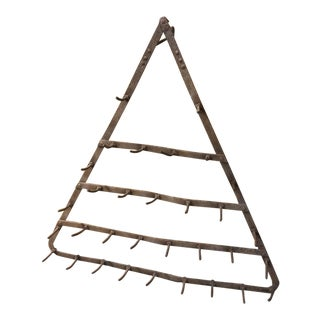Rustic French Triangular Hook Rack
