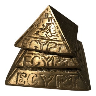 Vintage Brass Pyramid Paperweights - Set of 3 For Sale