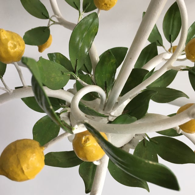 Italian Lemon Tree Tole Chandelier - Image 5 of 11