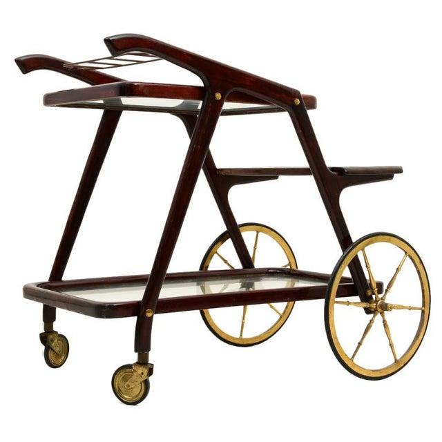 Mid-Century Modern Italian Cesare Lacca Service Cart For Sale - Image 9 of 9
