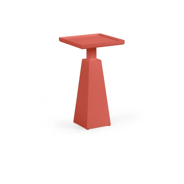 Transitional Casa Cosima Hayes Spot Table, Crimson For Sale - Image 3 of 3