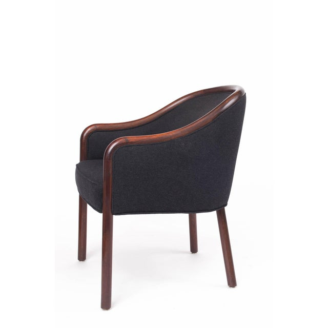 Brickel Associates 1960s Mid-Century Modern Ward Bennett Bentwood Club Chairs - a Pair For Sale - Image 4 of 5