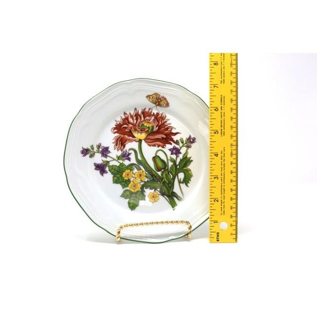 Vintage Bavarian China Floral Salad Plates by Bareuther - Set of 6 For Sale - Image 10 of 12