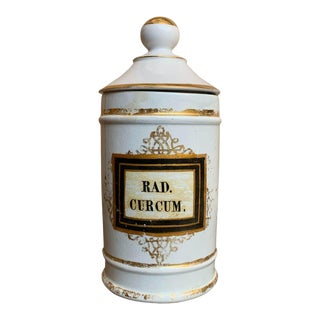Antique Porcelain Apothecary Jar For Sale