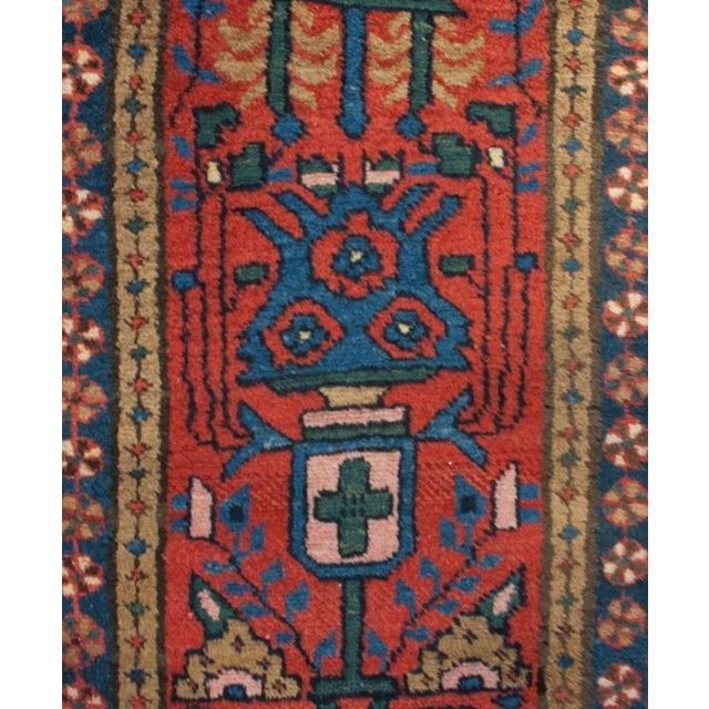 """Early 20th Century Heriz Runner - 24"""" x 112"""" For Sale - Image 4 of 5"""