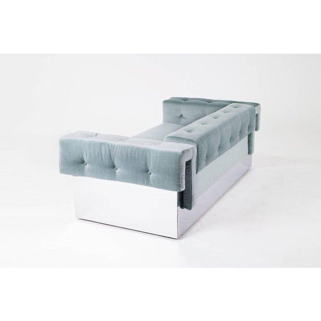 Milo Baughman Pair of Sofas For Sale In New York - Image 6 of 9