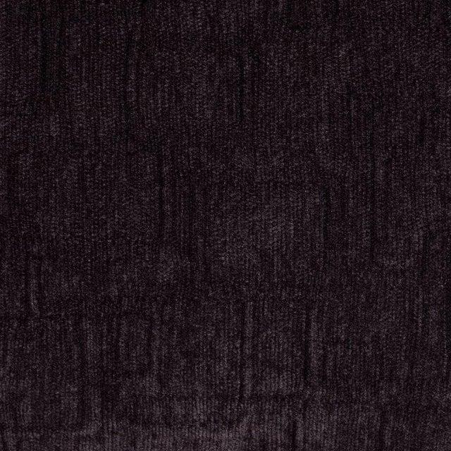 1920s Custom Handmade Gaufraged Velvet Rectangular Pillow in a Smoked Amethyst Hue For Sale - Image 5 of 6