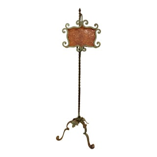 Art Deco Antique Hand Forged Iron Floor Lamp For Sale