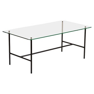 Glass Coffee Table by Pierre Guariche for Disderot, France, 1950s For Sale