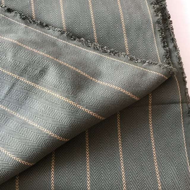 Green Herringbone Arrow Upholstery Fabric - 5 Yards - Image 5 of 6