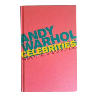 """ Andy Warhol Celebrities More Than Fifteen Minutes "" Rare First Edition Collector's Hardcover Exhibition Pop Art Book For Sale"