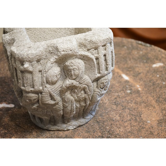 Carved Stone Vase For Sale - Image 4 of 8