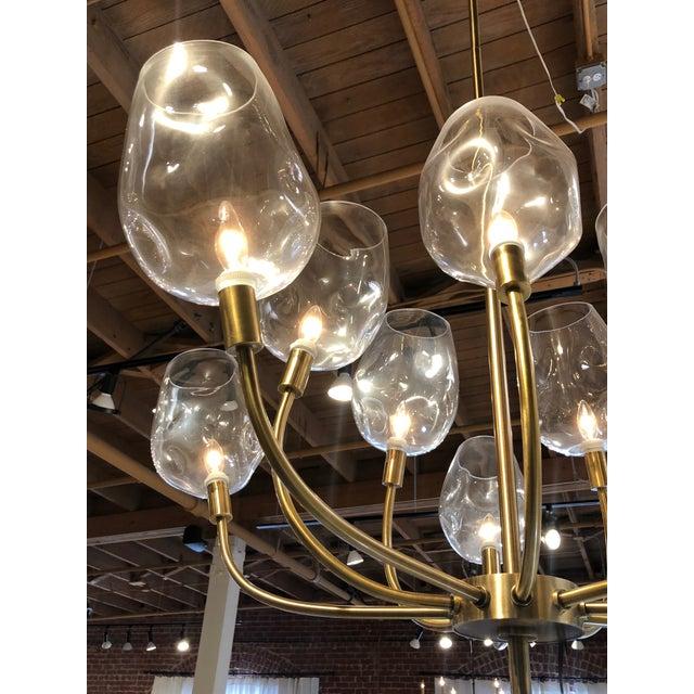 Mid Century Ten Light Chandelier For Sale In San Francisco - Image 6 of 7