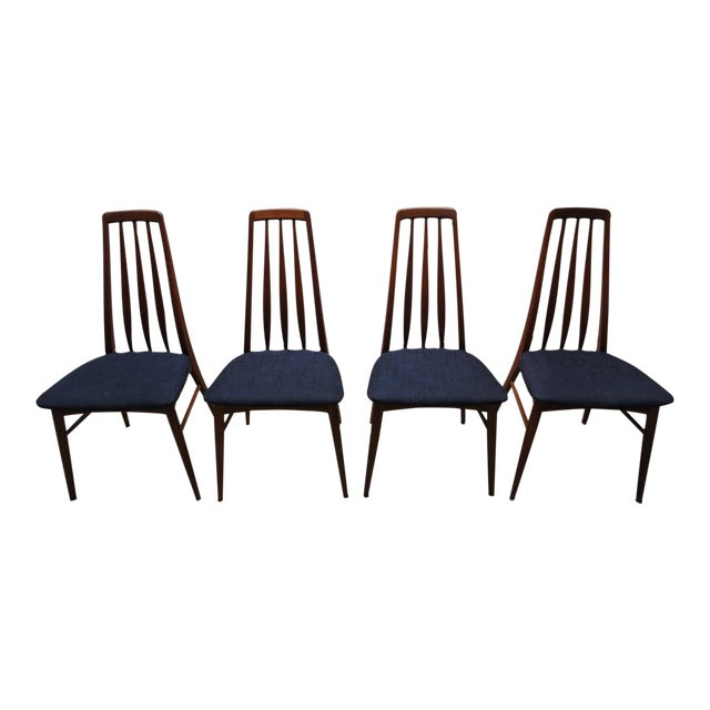 Danish Modern Eva Dining Chairs by Koefoeds Hornslet - Set of 4 - Image 1 of 10