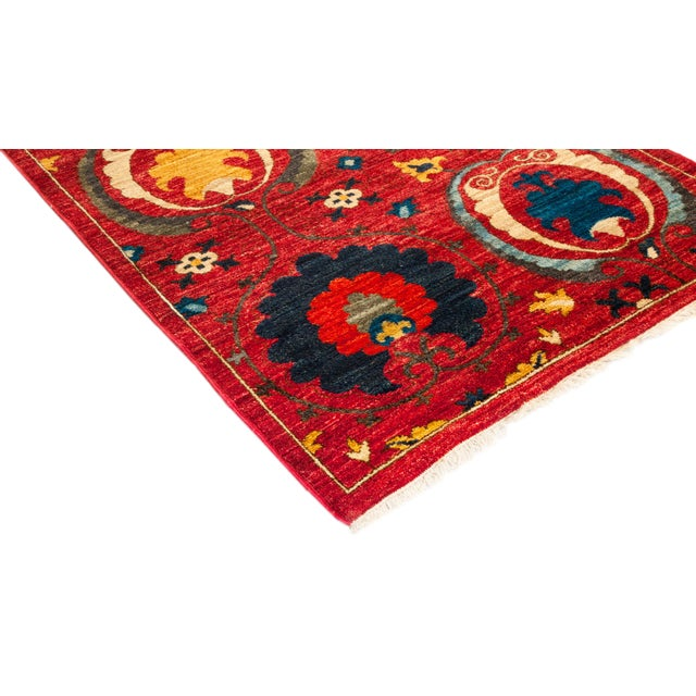 Color: Scarlet - Made In Pakistan. 100% Wool. Taking inspiration from traditional embroidery styles of Uzbekistan, our...