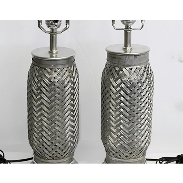 Abstract Rocket Component Lamps - Pair For Sale - Image 3 of 5