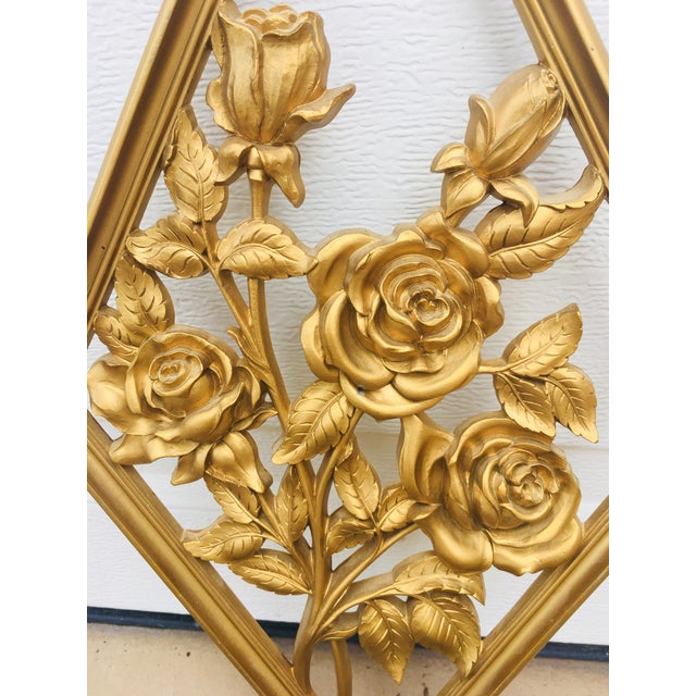 Vintage Syroco Gold Wall Art Sculptures - A Pair | Chairish