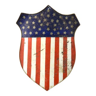 Antique 40 Star Federal Shield, Handmade, Circa 1889 For Sale