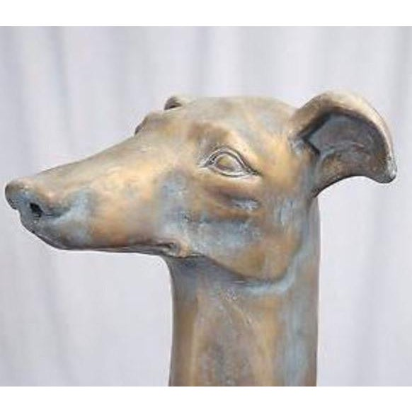 Plastic Life-Size Greyhound Dog Statue For Sale - Image 7 of 7