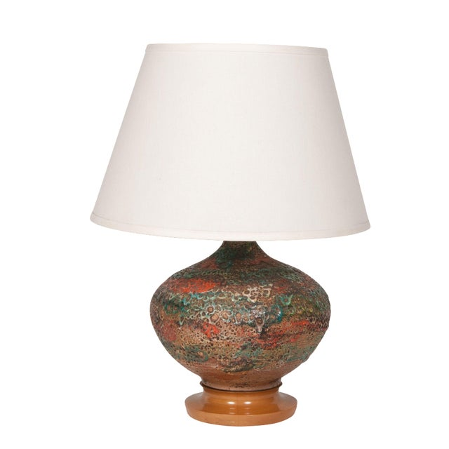 Volcanic Glaze Table Lamp For Sale