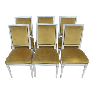 Early 20th Century Louis XVI Style Dining Chairs- Set of 6 For Sale