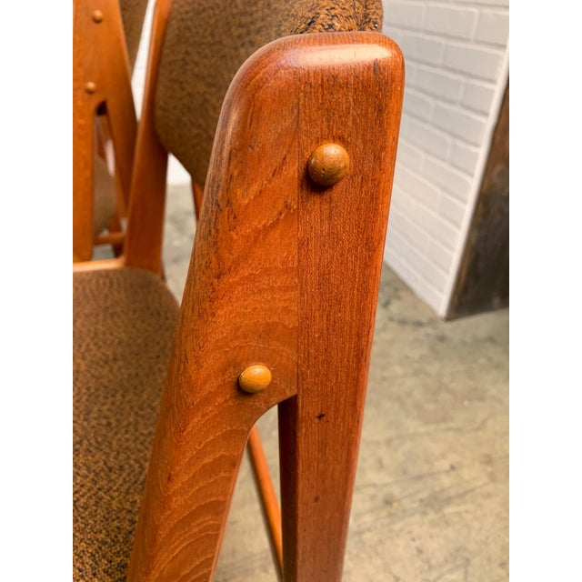 Brown Danish Modern Dining Chairs by Artfurn, Denmark For Sale - Image 8 of 13