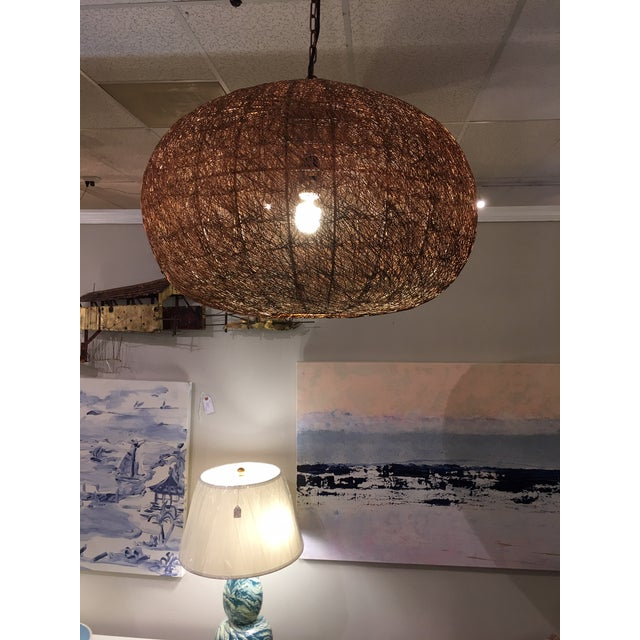 Contemporary Contemporary Copper Mesh Chandelier or Pendant For Sale - Image 3 of 6