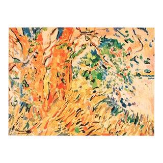 """1948 Maurice De Vlaminck, Original Period Lithograph """"The Plane Trees"""" For Sale"""