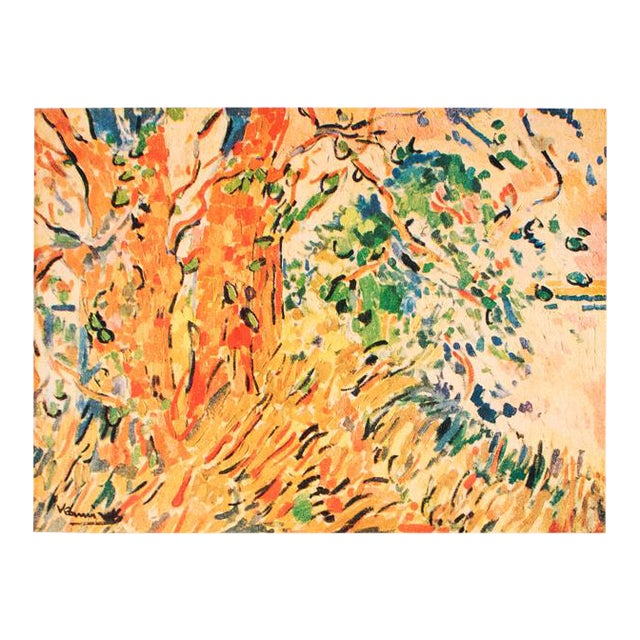 "1948 Maurice De Vlaminck, Original Period Lithograph ""The Plane Trees"" For Sale"