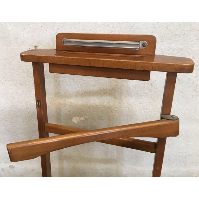 Italian Italian Cherry Valet Stand Dressboy in the Manner of Fratelli Reguitti, 1960s For Sale - Image 3 of 13