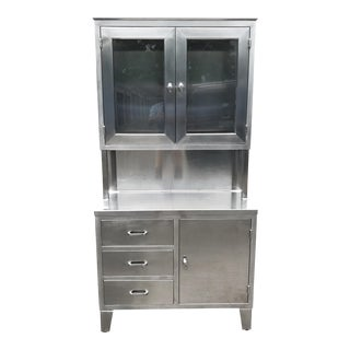 Mid-Century Stainless Steel Medical Cabinet