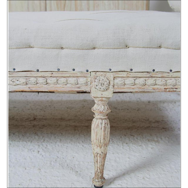 Late 18th Century 18th C Gustavian Banquette For Sale - Image 5 of 6