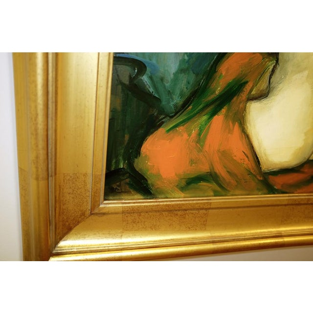 Mid 20th Century 20th Century Figurative Nude Portrait Oil on Canvas by Jan De Ruth For Sale - Image 5 of 9