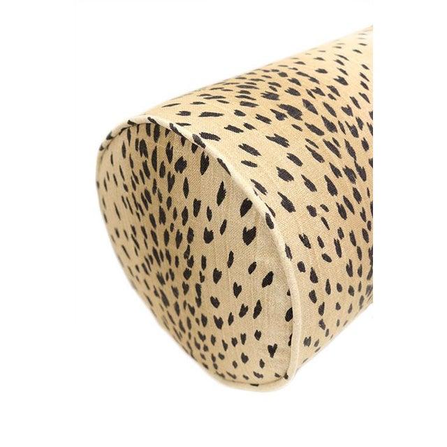 Antelope Bolster and Oxblood Velvet Pillows - Set of 4 For Sale - Image 5 of 7