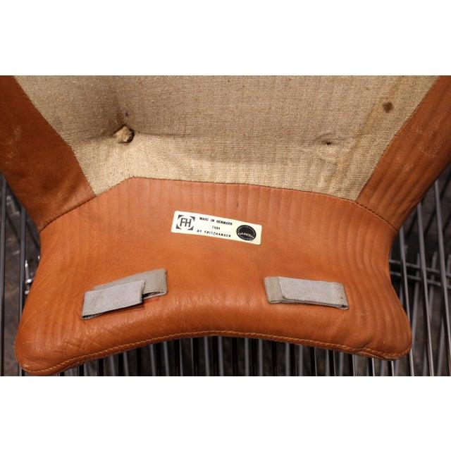 Verner Panton for Fritz Hansen Pantonova Leather Lounge Chair and Ottoman For Sale - Image 12 of 13