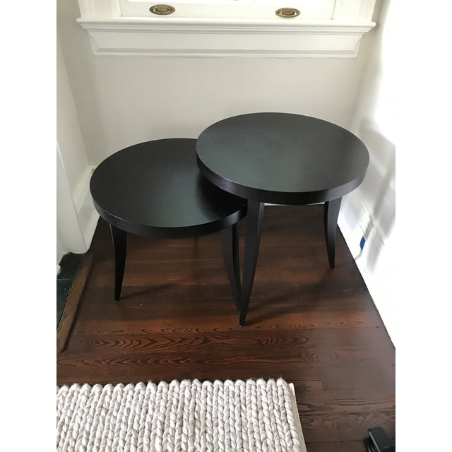 Transitional Tommy Pedestal Nesting Tables - a Pair For Sale - Image 9 of 9