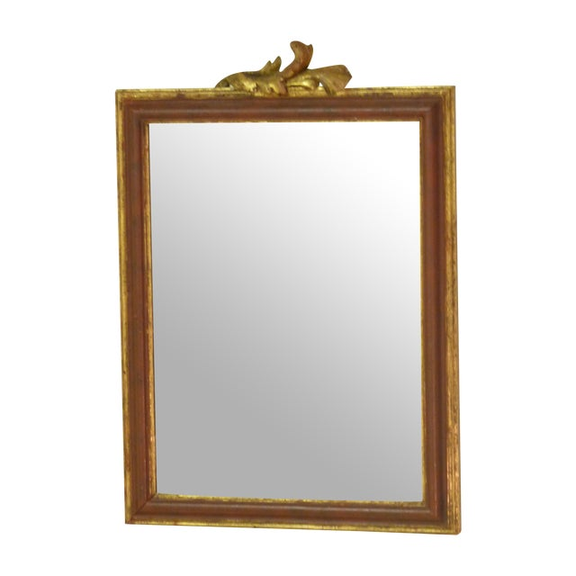 Small Mirror With Leaf Carving - Image 1 of 4