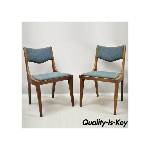 Drexel Dateline John Van Koert Walnut Mid Century Modern Dining Chairs - a Pair For Sale - Image 13 of 13