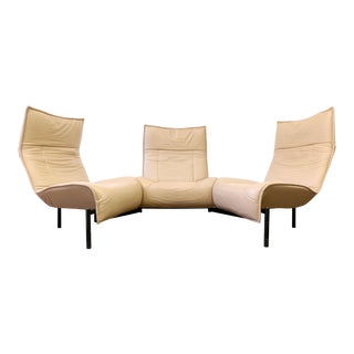 Leather Veranda 3 Sofa by Vico Magistretti for Cassina For Sale