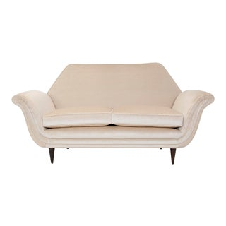 1950's Italian Gondola Love Seat For Sale