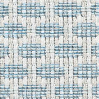 Schumacher Hickox Indoor/Outdoor Fabric in Sky For Sale