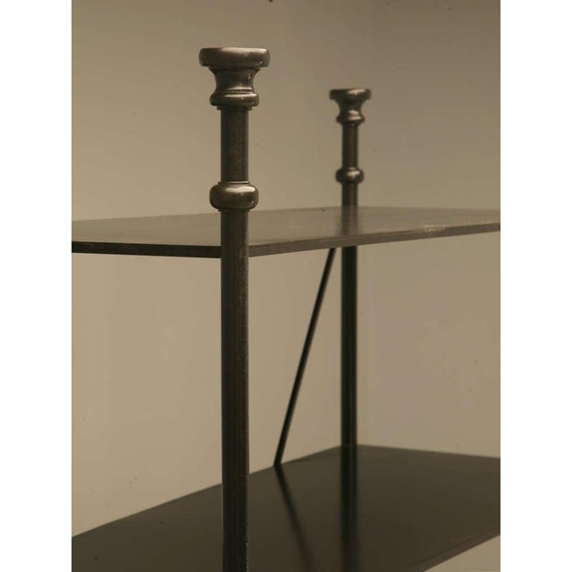 Industrial Style Etagere in Steel and Bronze For Sale In Chicago - Image 6 of 10