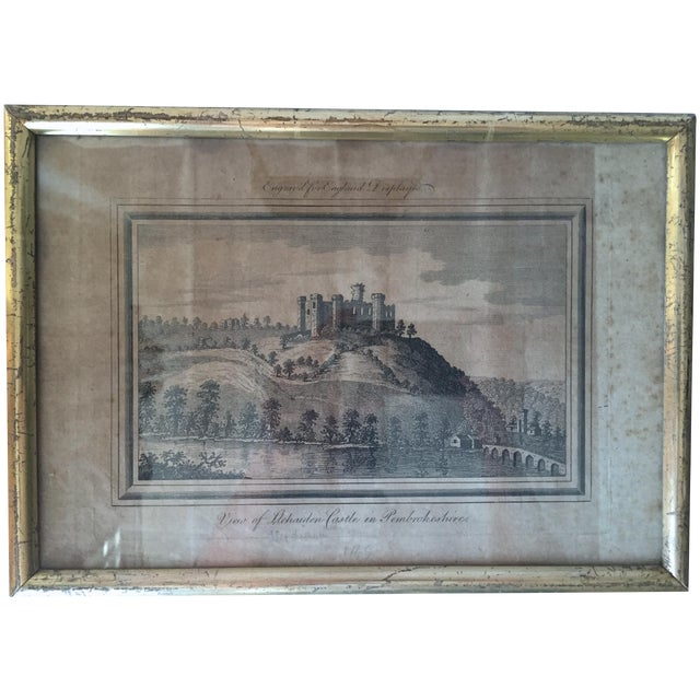Antique Welsh Castles Engravings - Set of 3 - Image 3 of 7