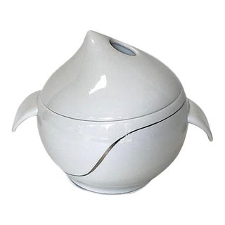Modernist Porcelain Covered Tureen/Dish For Sale