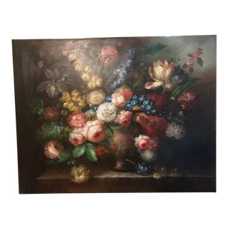 """Dutch Style """"Floral Display"""" Still Life Signed Oil Painting . Early 20th Century For Sale"""